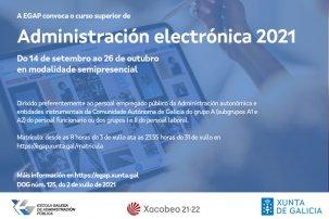 Curso superior de Administración electrónica 2021